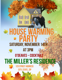 House Warming Party Flyer (Letter pang-US) template