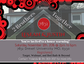House Warming ใบปลิว (US Letter) template