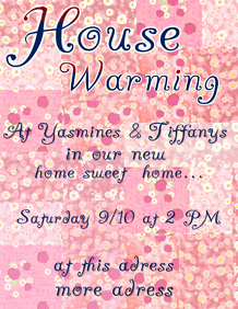 House warming with flowers