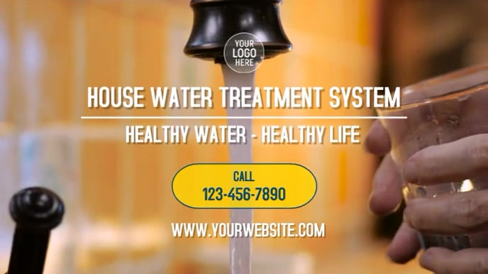 House Water Treatment System Digitale Vertoning (16:9) template