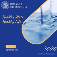 House Water Treatment System Video Ad Square (1:1) template