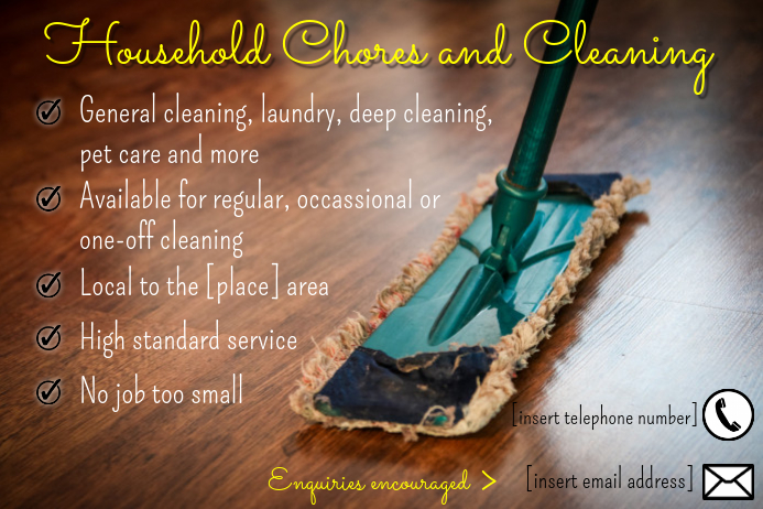 Household Cleaning Flyer Plakat template