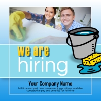 housekeeper service help wanted Instagram template