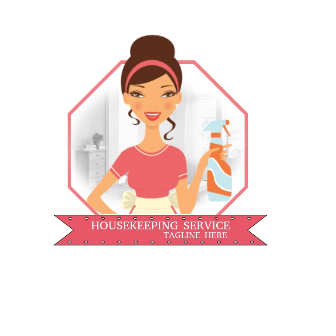 Housekeeping Business Service Logo template