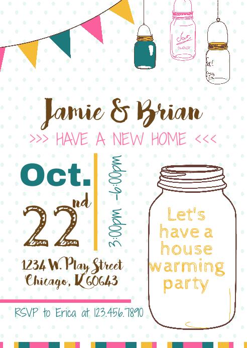 Mason Jar Template | Housewarming Party Mason Jars Template Postermywall