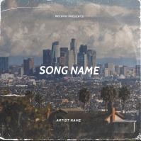 Houston album cover design template