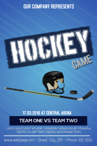 Hockey poster templates postermywall hovkey game flyer template hockey night maxwellsz