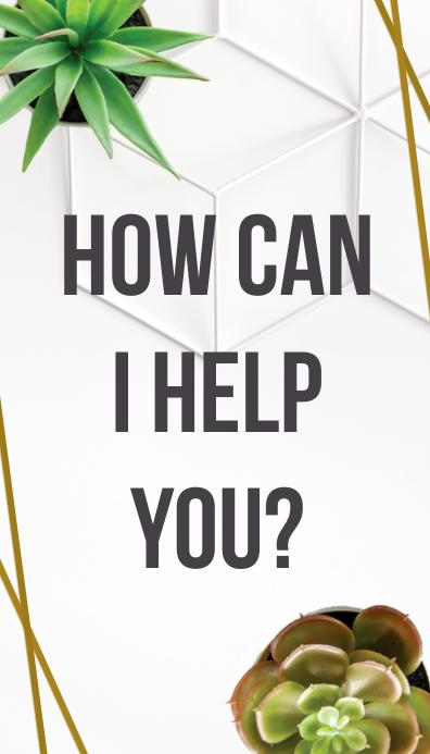 How Can I Help You? Cartão de visita template