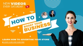 how to boost your business youtube thumbnail template