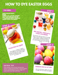 How to Dye Easter Eggs Flyer Template