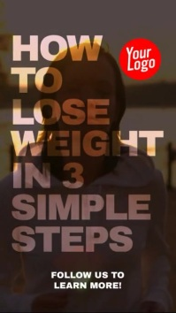 How to lose weight fitness instagram story ad Instagram-verhaal template