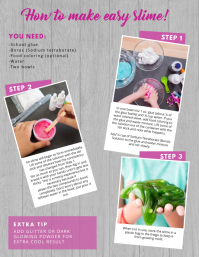 how to make diy craft flyer template