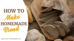how to make homemade bread youtube thumbnail