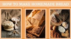 how to make homemadre bread youtube thumbnail