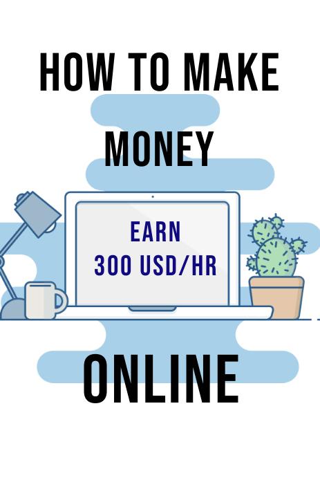 How to Make Money Online Gráfico de Pinterest template