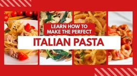 how to male pasta youtube thumbnail design te template