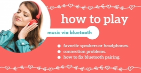 How To Play Music via Bluetooth Facebook-annonce template