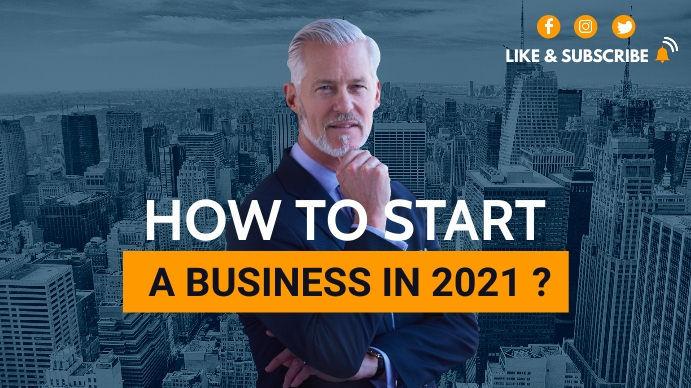 how to start a business in 2021 youtube video YouTube-miniature template