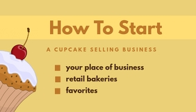 How To Start A Cupcake Заголовок блога template