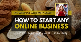 How to start online business live webinar ad