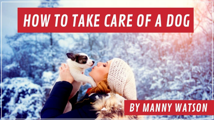 How To Take Care a Dog Youtube Thumbnail template