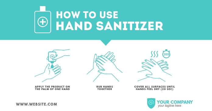 How to use Hand Sanitizer Facebook Shared Image template