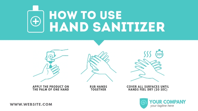 How to use Hand Sanitizer Twitter Post template