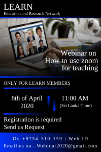 How to Use Webinar Zoom Conferencing Poster template