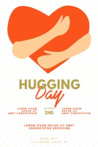 hugging day flyer design template