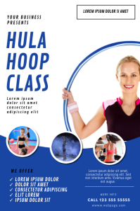 Hula-hoop Classes Flyer Template 海报