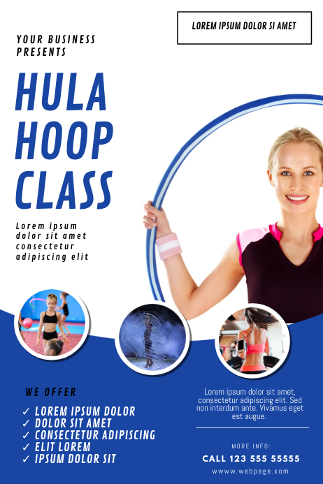 Hula-hoop Classes Flyer Template Poster