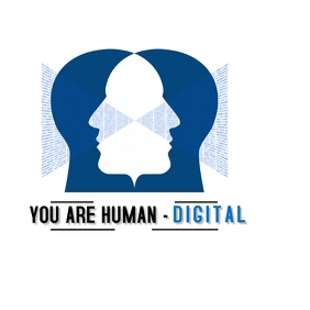 Human Digital Design Logo Logótipo template