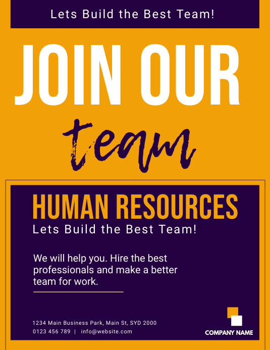 Human Resources FLYER TEMPLATE | PosterMyWall