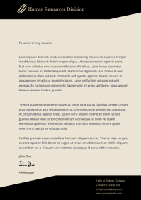 Human Resources letter head template