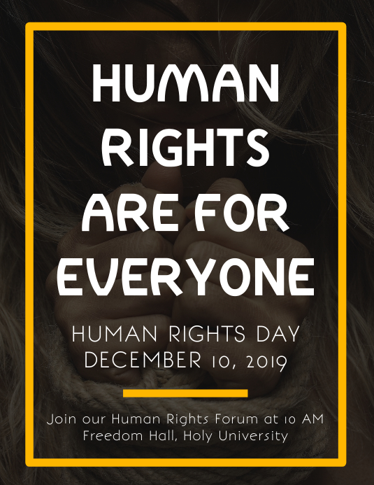 Human Rights are for Everyone Flyer