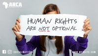 Human rights are not optional blog header template