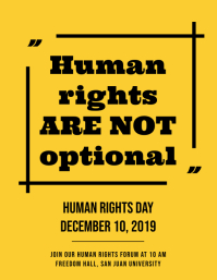 Human Rights are not optional Flyer template
