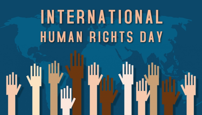 Human rights day,event Koptekst blog template