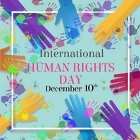 Human rights day,event Post Instagram template