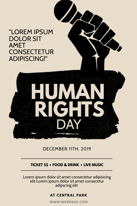 Human Rights Day Flyer Design Template