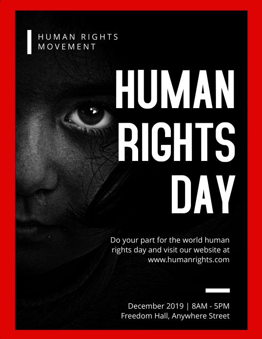 Human Rights Day Flyer 传单(美国信函) template