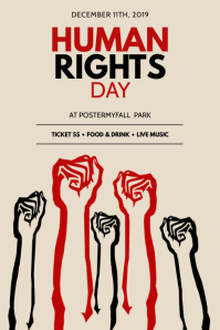 Human Rights Day Flyer Template