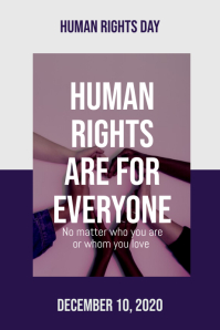 Human Rights Day Poster template