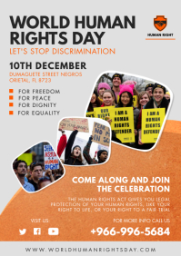 Human Rights Day Seminar Poster Template A4