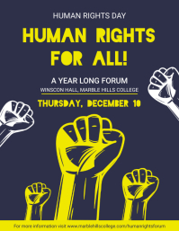 Human Rights Day Slogan Flyer Folheto (US Letter) template