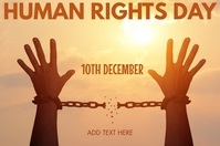 Human Rights Day Template Affiche