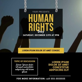 Human Rights day video design template