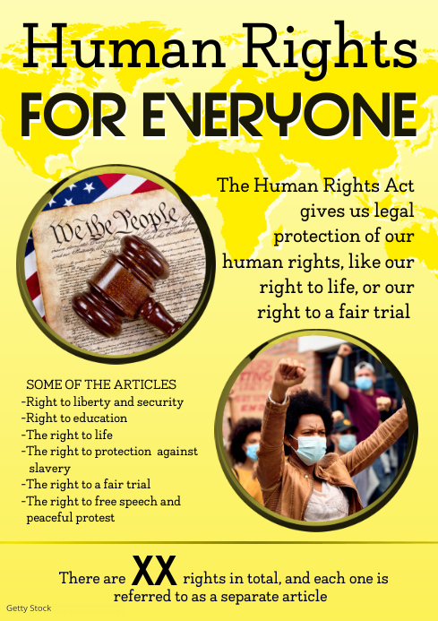 human rights poster A3 template