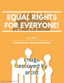 Human Rights Poster- Equal Rights