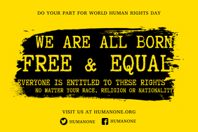 Human Rights Propaganda Poster Template